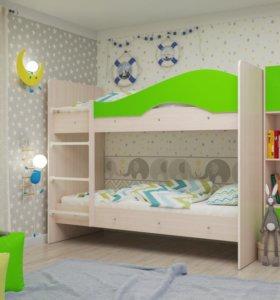 Кровать 2х ярусная Мая без ящиков