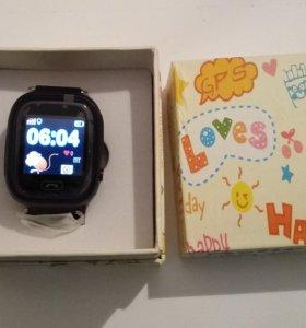 Умные детские часы smart baby Q90 черные с GPS