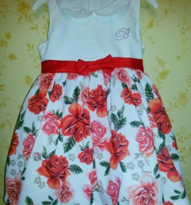 Нарядное платье 98. Турция. Шляпка в комплекте