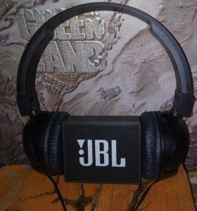 "Колонка ""JBL GO"" и наушники ""JBL T110BT"""