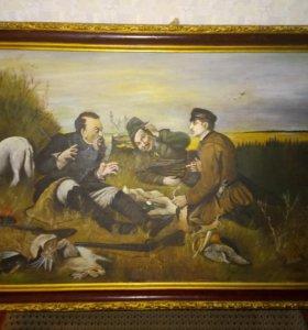 """Картина """"Охотники на привале"""" В.Г.Перова (копия)"""