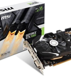 GeForce GTX1060 MSI PCI-E 3072Mb (GTX 1060 3GT OC)