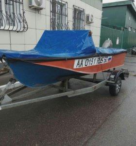 Лодка, мотор, прицеп, обмен