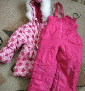 Костюм для девочки на зиму
