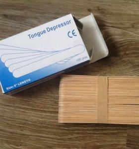 Деревянные шпатели для Эпиляции. 100 шт.