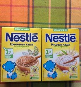 Каша безмолочная Nestle (рис, гречка)
