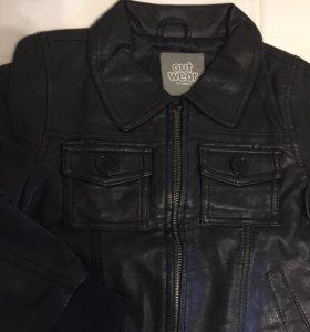 Куртка кожаная для мальчика OutWear, новая
