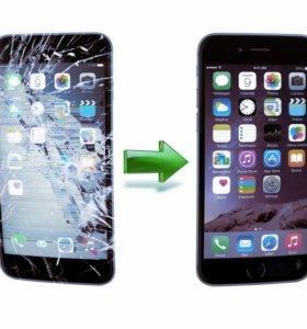 Замена дисплеев iPhone 5s 6 6S 7 8 X