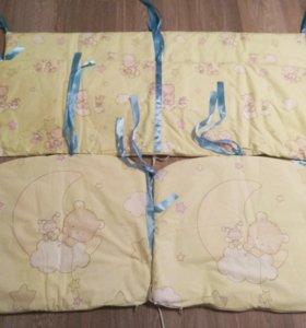 Бортики на кроватку + балдахин