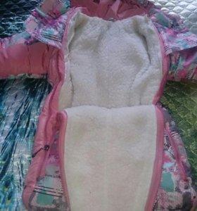 Комбинезон-трансформер зимний для девочки