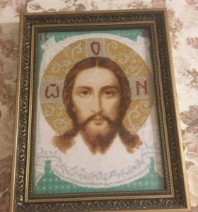 Вышитые крестиком иконы