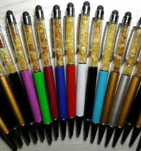 Ручка с янтарём внутри