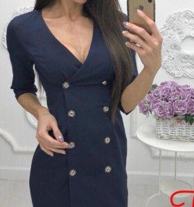 Платье пиджак с пуговицами, милитари, balmain