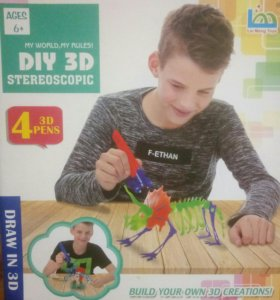 З D ручка 4 цвета(Diy 3D Stereoscopic)