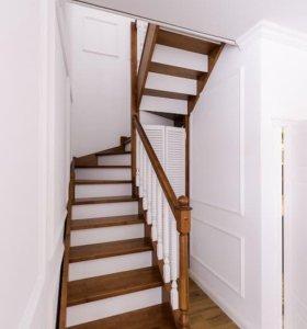 Лестницы из дерева эконом-класса
