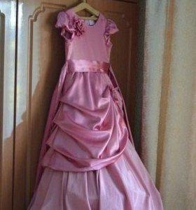 платье бальное на девочку 9-11 лет