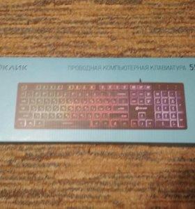 OKLICK проводная компьютерная клавиатура 550ML