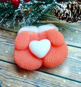 Мыло ручной работы на Новый год, наборы, мандарины