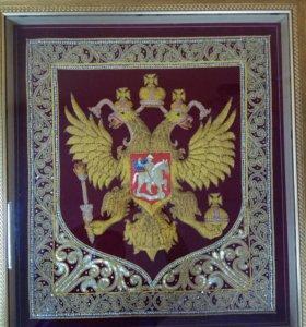 Герб России ручной работы 3D
