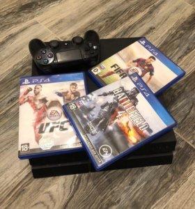 PS4 500Gb с 3 дисками
