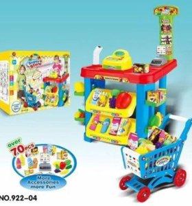Детский игровой набор Супермаркет с тележкой