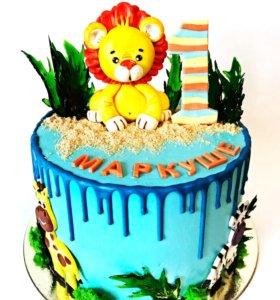 Торты, кап кейки, кейк попсы, зефир на заказ.