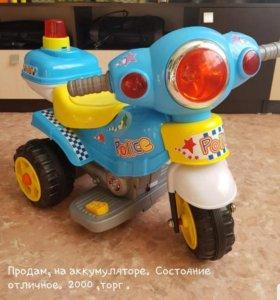 Молоцикл на аккумуляторе
