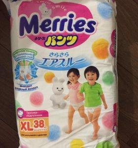 Подгузники-трусики Merries XL (12-22кг) 38 шт