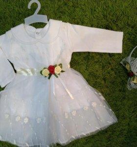 ✨😍🌺очень милое платье с ХБ подкладом для малышки