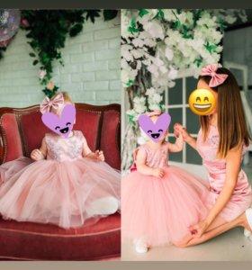 Прокат платья мама+дочь