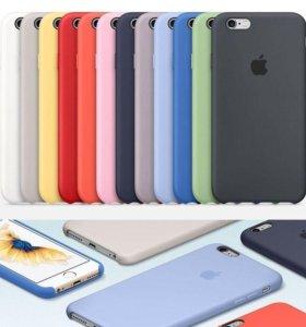 Чехлы silicon case для всех моделей iPhone