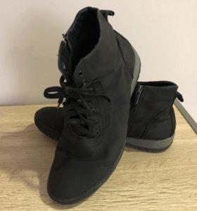 Ботинки, нубук, тёплые, р42