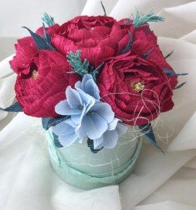 Цветы из гофры ручной работы