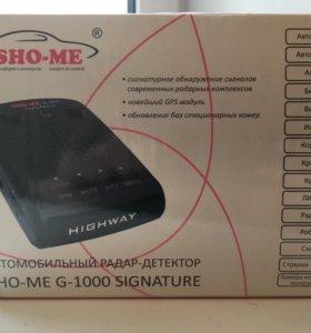 Радар Sho-me G1000 сигнатурный