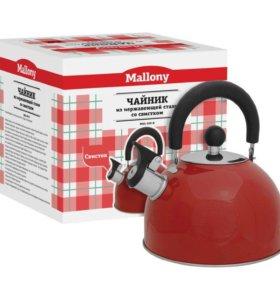 Чайник со свистком Mallony MAL-039-R