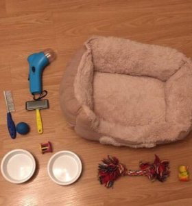 Лежак для кошки или собаки игрушки миски