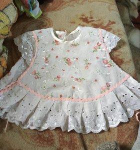 Платье на 7-10 месяцев но может и на шесть