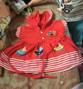 Платье летние на возраст 1год