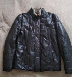 Зимняя кожаная куртка ТОТО