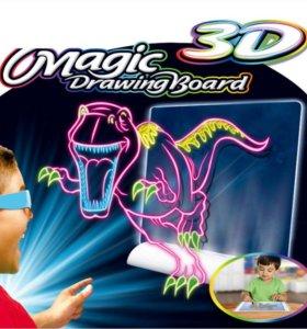 МАГИЧЕСКАЯ 3D ДОСКА MAGIC DRAWING BOARD