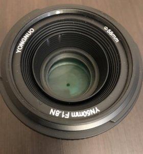 Объектив Yongnuo 50 mm для Nikon