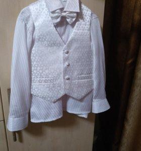 Рубашка+жилетка с бабочкой