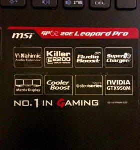 MSI GP62 2QE i7,8Gb,1128Gb,GTX 950M-2Gb 128Bit