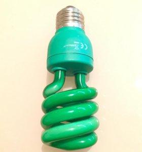 Лампочка зеленый свет