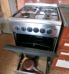 Плита кухонная газовая с электро конфоркой