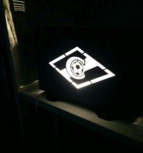 Светильник с логотипом