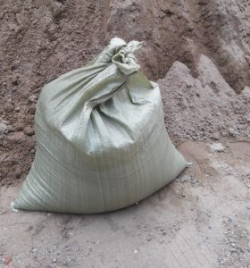 Песок фасованый в мешки речной