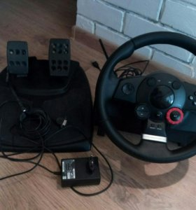 Игровой руль с педалями Logitech Driving force GT