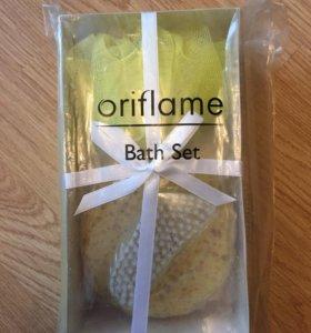 Набор Oriflame мочалка,губка и щеточка