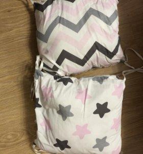Мягкие бортики для детских кроваток